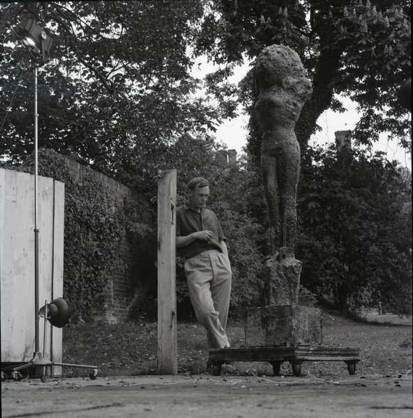 Reg Butler at his studio, London, 1963 (b/w photo)