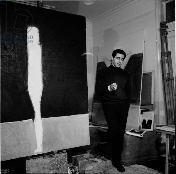 Peter Kinley, 1963 (b/w photo)
