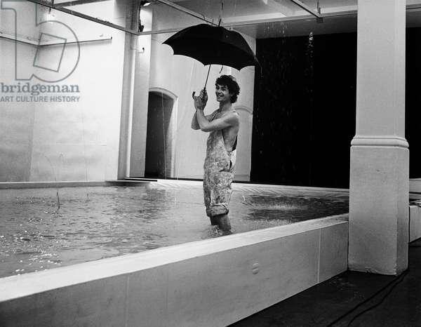 Peter Logan, 1972 (b/w photo)
