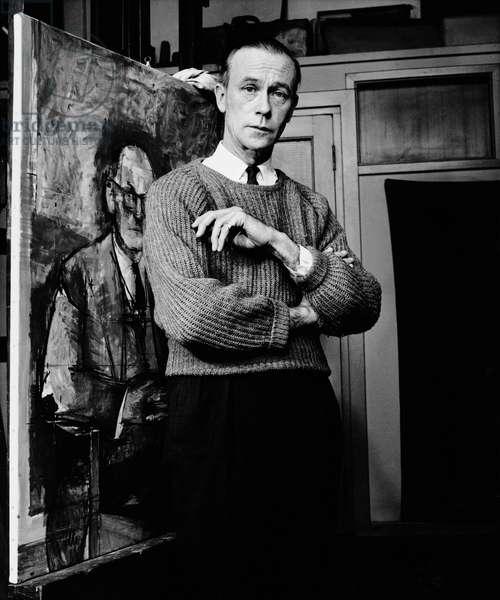 Sir William Coldstream, 1963 (b/w photo)