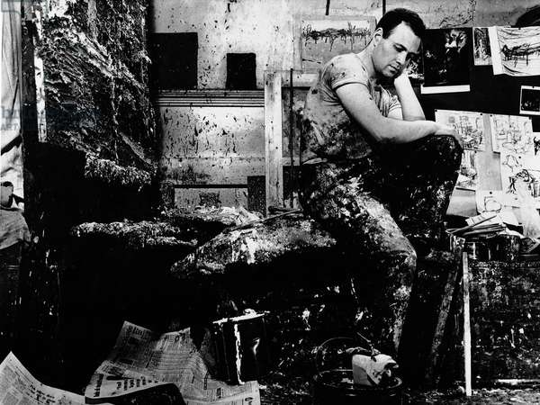 Frank Auerbach, 1963 (b/w photo)