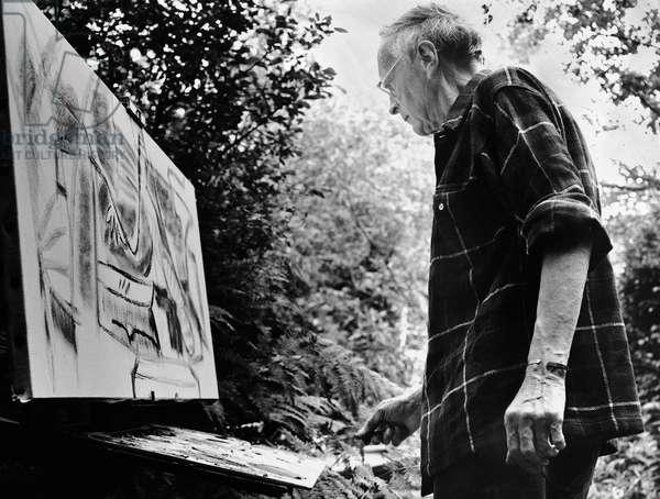 Ivon Hitchens, 1972 (b/w photo)