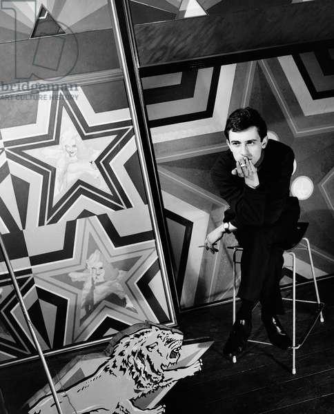 Peter Phillips, 1963 (b/w photo)