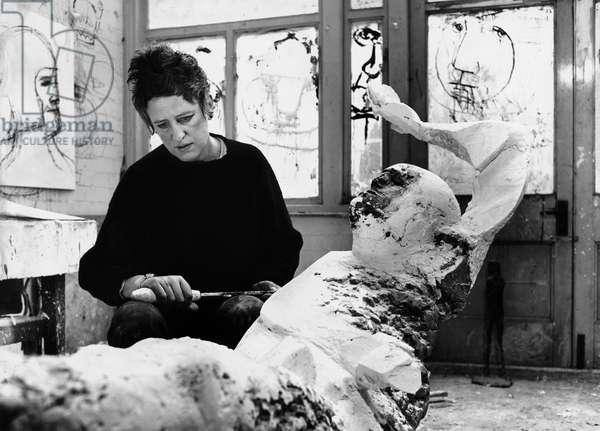 Elizabeth Frink, 1963 (b/w photo)