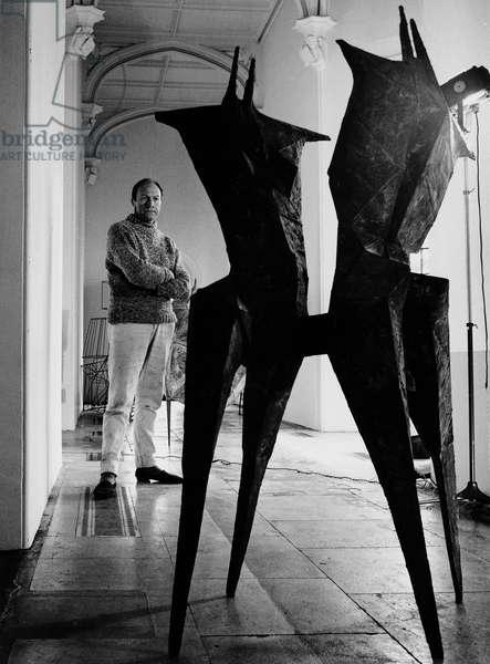 Lynn Chadwick, 1963 (b/w photo)