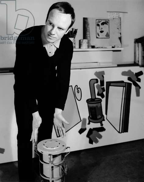 Patrick Caulfield, 1965 (b/w photo)