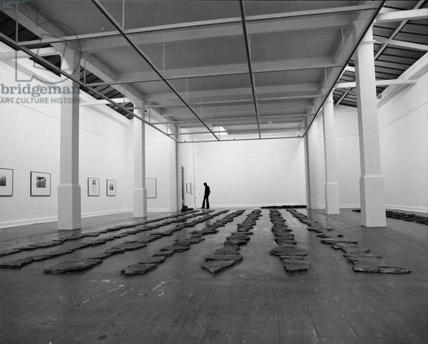 Richard Long, 1971 (b/w photo)