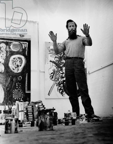 Alan Davie, 1963 (b/w photo)