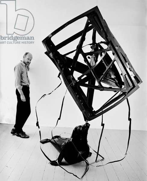 Bill Woodrow, 1983 (b/w photo)