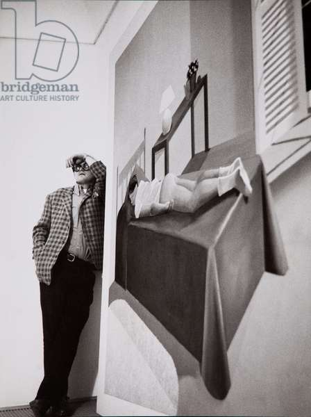 David Hockney, 1969 (b/w photo)