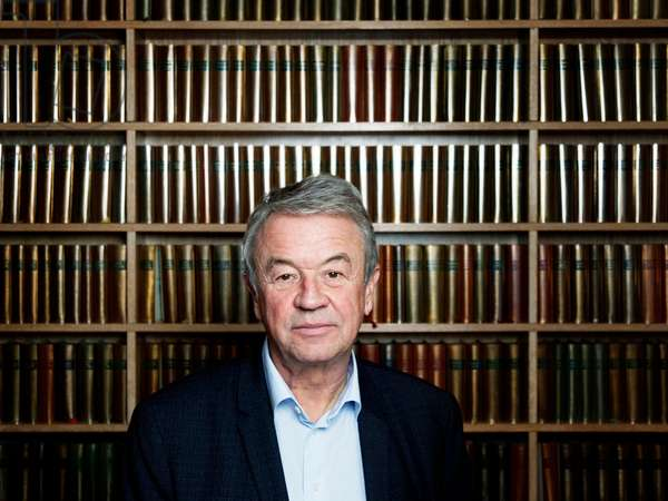 Portrait of Antoine Gallimard at his office at his publishing house Gallimard 22/02/2018