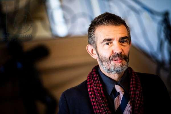 Portrait of Philippe Lancon at the Cercle de l'Union Interalliee (Prix Femina Roman 2018) 05/11/2018