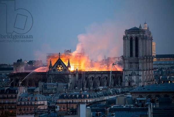 Incendie de la cathedrale Notre-Dame de Paris (Notre Dame) 15/04/2019