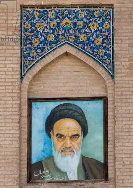 Ayatollah Khomeini Portrait, Isfahan Province, Isfahan, Iran, 2016 (photo)
