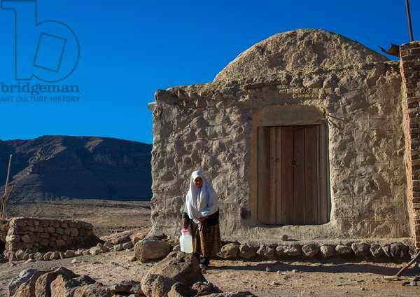 Old Widow Woman In The Troglodyte Village, Kerman Province, Meymand, Iran, 2016 (photo)