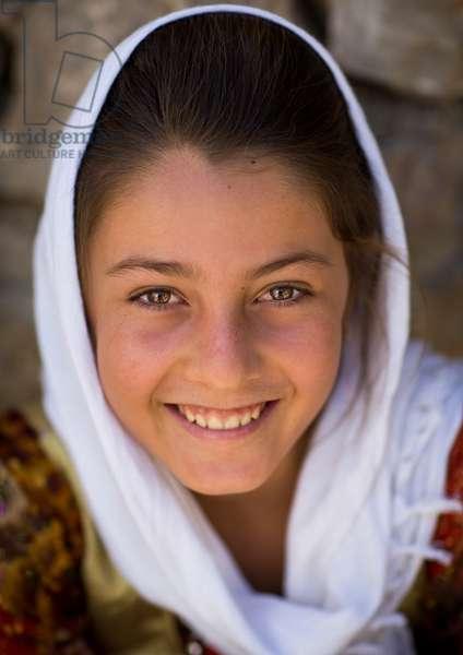 Smiling Kurdish Girl, Palangan, Iran, 2013 (photo)
