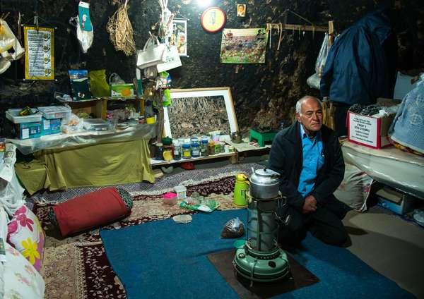 Old Man In His Troglodyte House, Kerman Province, Meymand, Iran, 2016 (photo)