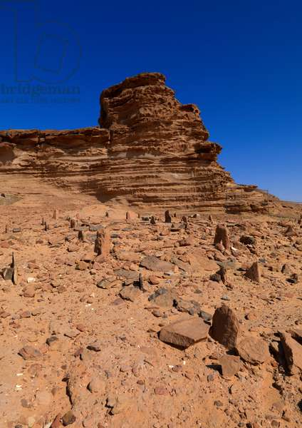 Cemetery in Front of Al Jawf Old Fort, Saudi Arabia (photo)