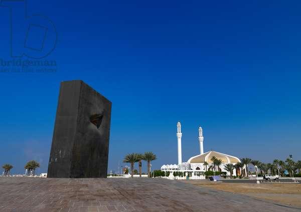 Modern Art on the Corniche, Jeddah, Mecca Region, Saudi Arabia (photo)