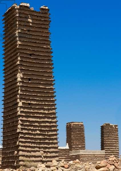 Old Adobe Towers in a Village, Al Khalaf, Asir, Saudi Arabia (photo)