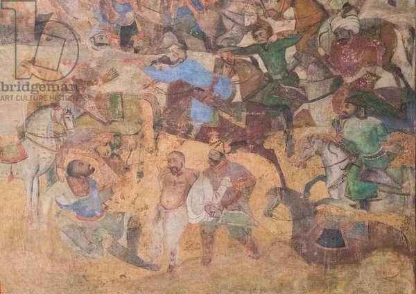 Colorful Old Mural Painting, Isfahan Province, Isfahan, Iran, 2015 (photo)