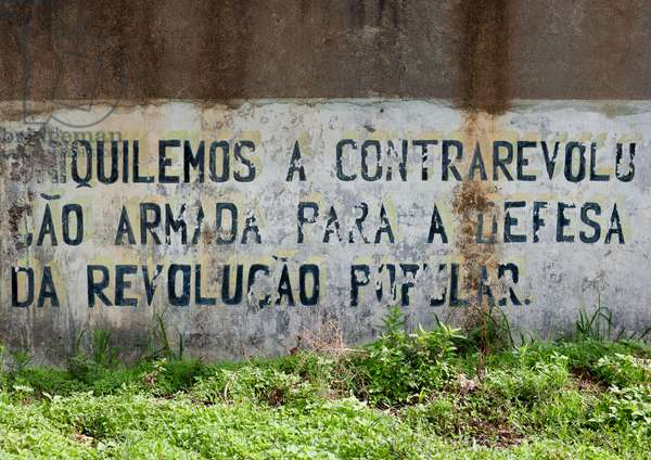 Old Cuban Propaganda Message By Fidel Castro, Lubango, Angola, Africa (photo)