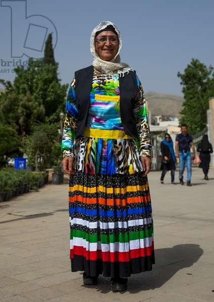 Woman In Traditional Gilaki Costume, Fars Province, Shiraz, Iran, 2015 (photo)