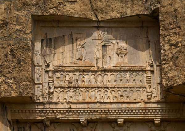 Achaemenian Royal Tombs In Naqsh-E Rustam Necropolis, Fars Province, Shiraz, Iran, 2015 (photo)