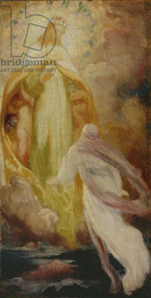 Sketch for 'A Vision', c.1860-61 (oil on canvas)