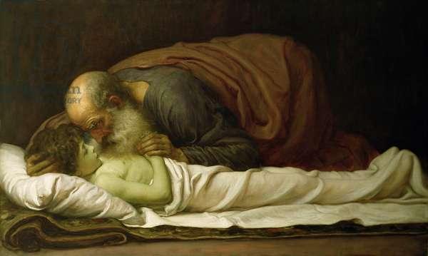 Elisha Raising the Son of the Shunamite, 1881 (oil on canvas)