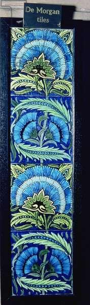 Tiled frieze by William de Morgan (1839-1917)