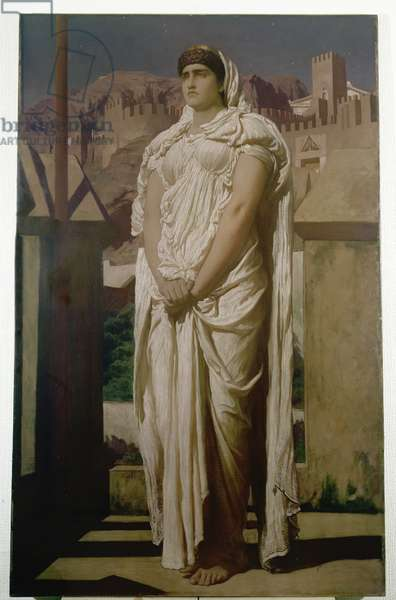 Clytemnestra from the Battlements of Argos Watches for the Beacon Fires which are to Announce the Return of Agamemnon, c.1874 (oil on canvas)