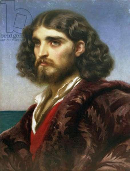 Head of an Italian Model, c.1864 (oil on canvas)