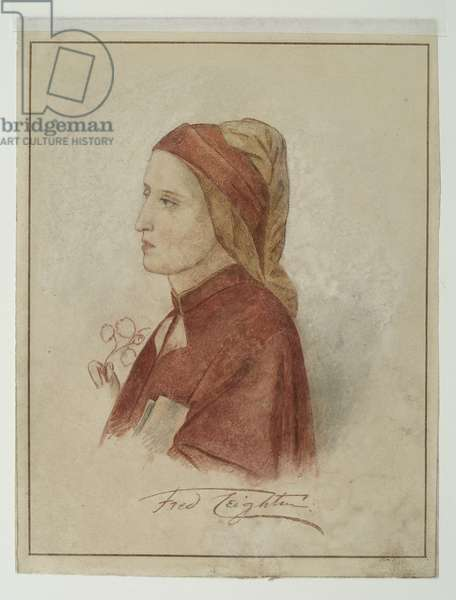 Study after a fresco attributed to Giotto di Bondone, 1852-55 (pencil & w/c on paper)