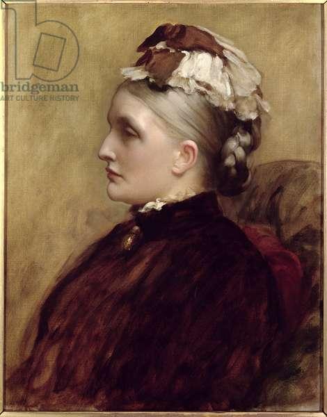Alexandra Leighton (Mrs Sutherland Orr) (1827-1903), 1891 (oil on canvas)