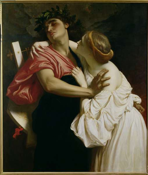 Orpheus and Euridyce (oil on canvas)