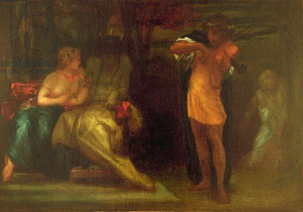 The Triumph of Music: 'Orpheus, by the Power of his Art, Redeems his Wife from Hades', c.1855-56 (oil on canvas)