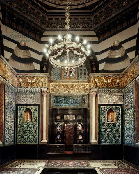 The Arab hall, Leighton House Museum, built by George Aitchison (1825-1910) between 1866 and 1895;  Kensington & Chelsea, London, UK (photo)