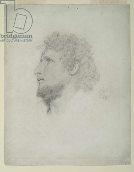 Study for 'Cimabue's Celebrated Madonna', 1853 (pencil on paper)
