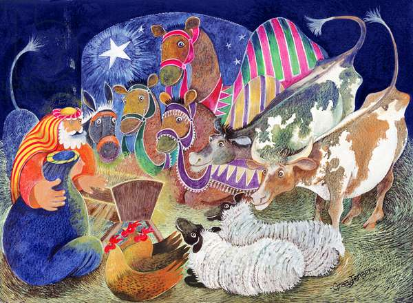 The Nativity (w/c & gouache on paper)