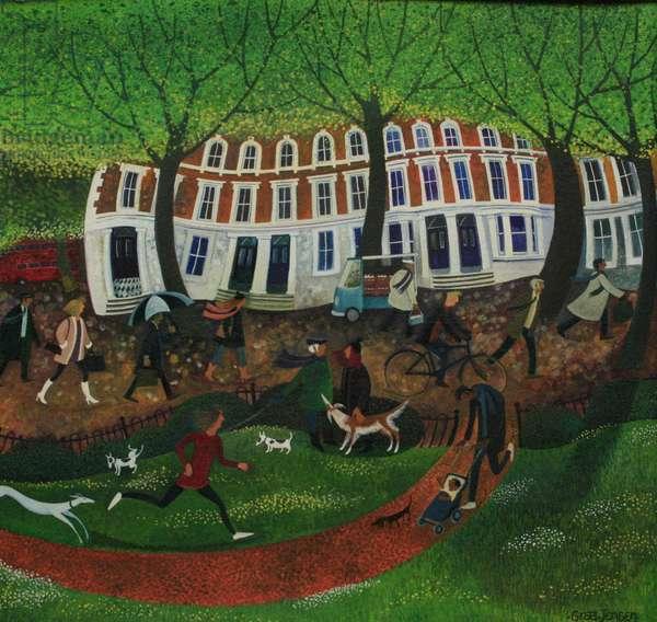 Kensington, 2013 (acrylic ink and gouache on canvas)