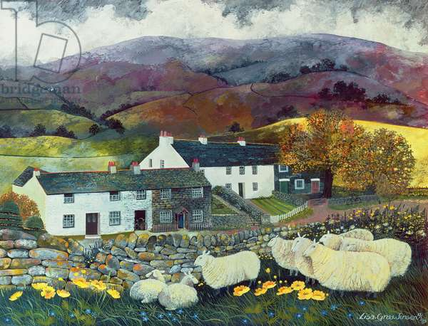 Sheep Country, 1988 (w/c, gouache)