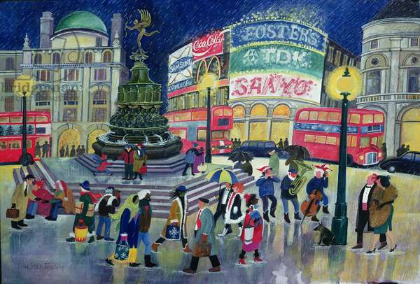 Piccadilly (w/c & gouache on paper)