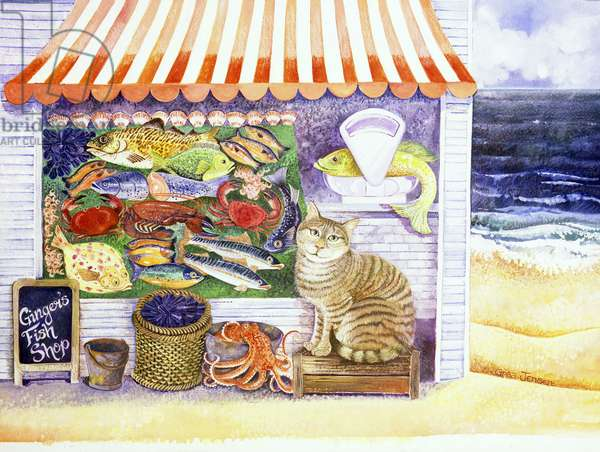 Ginger's Fish Shop, 2000 (acrylic and ink)