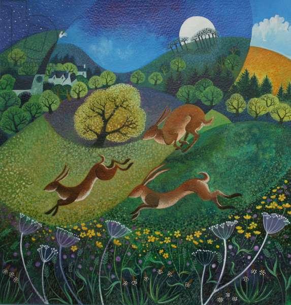 The Joy of Spring (acrylic & gouache on canvas)
