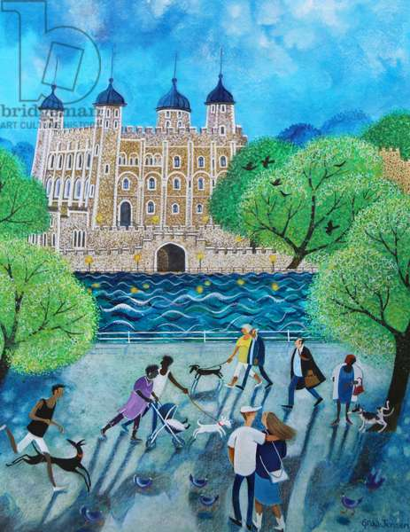 Tower of London 2018(acrylics on paper)