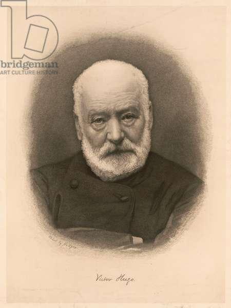 Victor Hugo, 1885 print (etching)