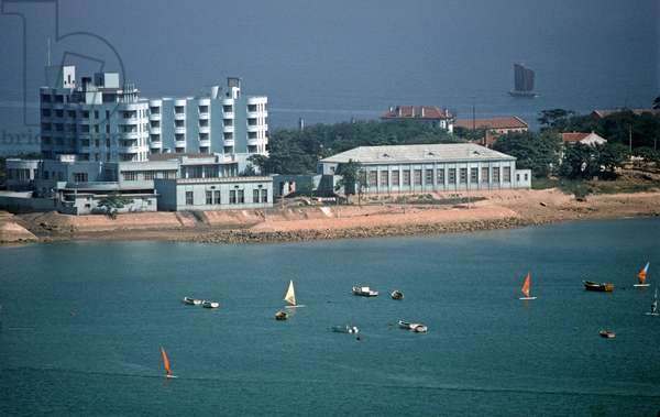 Qingdao beach resort, Shandong province, China, 1985 (photo)