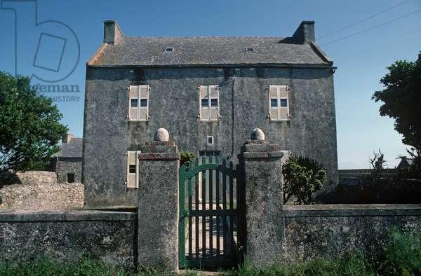 Country House on Island of Ushant, Brittany, France (photo)