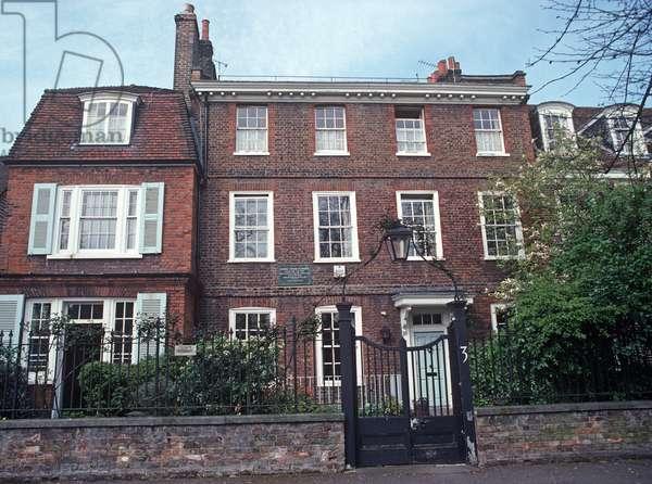 Samuel Taylor Coleridge House in Highgate Village, North London, UK (photo)
